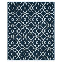 Safavieh Four Seasons Links 8-Foot x 10-Foot Indoor/Outdoor Area Rug in Navy/Ivory