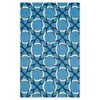 Safavieh Four Seasons Dreamcatcher 5-Foot x 8-Foot Indoor/Outdoor Area Rug in Blue/Ivory