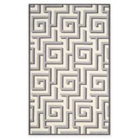 Safavieh Four Seasons Greek Key 3-Foot 6-Inch x 5-Foot 6-Inch Indoor/Outdoor Rug in Ivory/Grey
