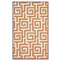 Safavieh Four Seasons Greek Key 3-Foot 6-Inch x 5-Foot 6-Inch Indoor/Outdoor Rug in Ivory/Brown