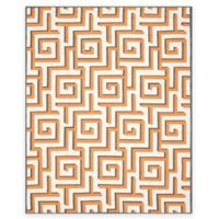 Safavieh Four Seasons Greek Key 8-Foot x 10-Foot Indoor/Outdoor Area Rug in Ivory/Brown