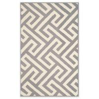 Four Seasons Maze 3-Foot 6-Inch x 5-Foot 6-Inch Indoor-Outdoor Area Rug in Ivory/Grey