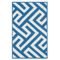 Four Seasons Maze 3-Foot 6-inch x 5-Foot 6-Inch Indoor-Outdoor Area Rug in Ivory/Blue