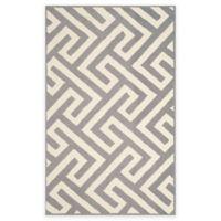 Four Seasons Maze 5-Foot x 8-Foot Indoor/Outdoor Area Rug in Ivory/Grey