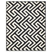Four Seasons Maze 8-Foot x 10-Foot Indoor-Outdoor Area Rug in Ivory/Black