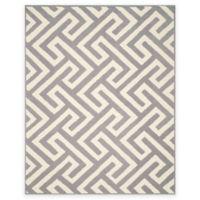 Four Seasons Maze 8-Foot x 10-Foot Indoor-Outdoor Area Rug in Ivory/Grey