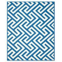 Four Seasons Maze 8-Foot x 10-Foot Indoor-Outdoor Area Rug in Ivory/Blue