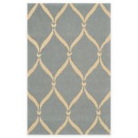 Safavieh Four Seasons Net 3-Foot 6-Inch x 5-Foot 6-Inch Indoor/Outdoor Area Rug in Light Blue/Ivory