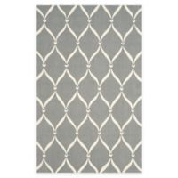 Safavieh Four Seasons Net 3-Foot 6-Inch x 5-Foot 6-Inch Indoor/Outdoor Area Rug in Grey/Ivory
