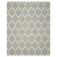 Safavieh Four Seasons Net 8-Foot x 10-Foot Indoor/Outdoor Area Rug in Light Blue/Ivory