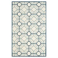 Safavieh Four Seasons Logan 3-Foot 6-Inch x 5-foot 6-Inch Indoor/Outdoor Area Rug in Ivory/Grey