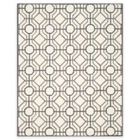 Safavieh Four Seasons Logan 8-Foot x 10-Foot Indoor/Outdoor Area Rug in Ivory/Black