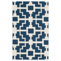 Safavieh Four Seasons Blair 3-Foot 6-Inch x 5-Foot 6-Inch Indoor/Outdoor Area Rug in Navy/Ivory