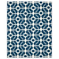 Safavieh Four Seasons Blair 8-Foot x 10-Foot Indoor/Outdoor Area Rug in Navy/Ivory