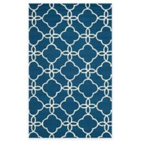 Safavieh Four Seasons Langley 3-Foot 6-Inch x 5-Foot 6-Inch Indoor/Outdoor Area Rug in Navy/Ivory
