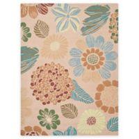 Safavieh Four Seasons Scribble Floral 4-Foot x 6-Foot Indoor/Outdoor Area Rug in Creme
