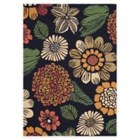 Safavieh Four Seasons Scribble Floral 4-Foot x 6-Foot Indoor/Outdoor Area Rug in Black