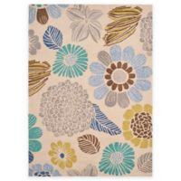 Safavieh Four Seasons Scribble Floral 5-Foot x 7-Foot Indoor/Outdoor Area Rug in Grey