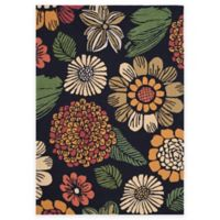 Safavieh Four Seasons Scribble Floral 8-Foot x 10-Foot Indoor/Outdoor Area Rug in Black