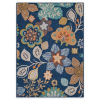 Safavieh Four Seasons Blossoms 4-Foot x 6-Foot Indoor/Outdoor Area Rug in Navy