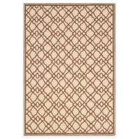 Safavieh Four Seasons Trellis Indoor/Outdoor Area Rug in Ivory/Dark Brown