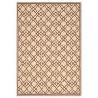 Safavieh Four Seasons Trellis 5-Foot x 7-Foot Indoor/Outdoor Area Rug in Ivory/Dark Brown