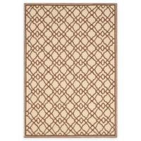 Safavieh Four Seasons Trellis 8-Foot x 10-Foot Indoor/Outdoor Area Rug in Ivory/Dark Brown