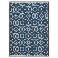 Safavieh Four Seasons Circle Trellis 8-Foot x 10-Foot Indoor/Outdoor Area Rug in Navy/Ivory