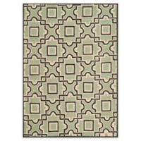 Safavieh Four Seasons Squares 4-Foot x 6-Foot Indoor/Outdoor Area Rug in Brown