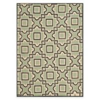 Safavieh Four Seasons Squares 8-Foot x 10-Foot Indoor/Outdoor Area Rug in Brown