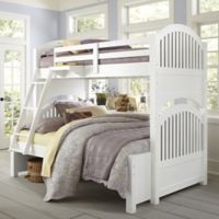NE Kids Lake House Adrian Bunk Twin/Full Bed in White