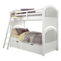 NE Kids Lake House Adrian Bunk Twin/Twin Bed with Trundle in White