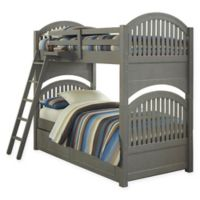 NE Kids Lake House Adrian Bunk Twin/Twin Bed with Trundle in Stone