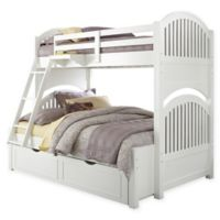 NE Kids Lake House Bunk Twin/Full Bed with Trundle in White
