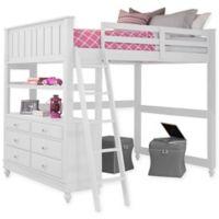 NE Kids Lake House Full Loft Bed in White