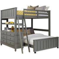 NE Kids Lake House Loft Twin/Full Bed in Stone