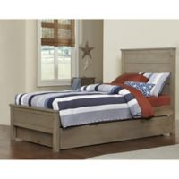 NE Kids Highlands Alex Twin Bed with Trundle in Driftwood