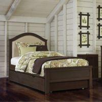 NE Kids Highlands Bailey Upholstered Twin Bed in Espresso