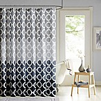 90° by Design Lab Dani Printed Shower Curtain and Hook Set in Black