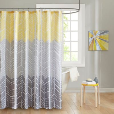 Buy Yellow Chevron Curtains from Bed Bath & Beyond