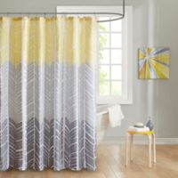 Intelligent Design Adel Printed Shower Curtain in Yellow