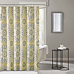 Madison Park Essentials Serenity Printed Shower Curtain in Yellow
