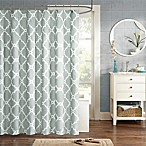 Madison Park Essentials Merritt Printed Shower Curtain in Grey