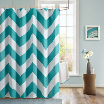 Mi Zone Libra Microfiber Shower Curtain In Teal