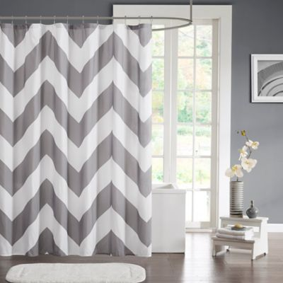 Mi Zone Libra Microfiber Shower Curtain In Grey