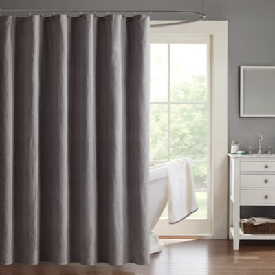 Madison Park Eliza 72-Inch x 72-Inch Chevron Jacquard Shower Curtain in  Charcoal - Buy Charcoal Shower Curtains From Bed Bath & Beyond