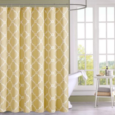 yellow and teal shower curtain. Madison Park Saratoga Shower Curtain in Yellow Buy Fabric from Bed Bath  Beyond