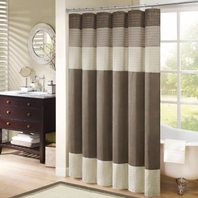 Superior Madison Park Amherst 54 Inch X 78 Inch Shower Curtain In Natural