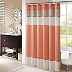 Madison Park Amherst 72-Inch x 72-Inch Shower Curtain in Coral