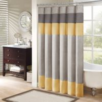 Madison Park Amherst 72-Inch x 72-Inch Shower Curtain in Yellow
